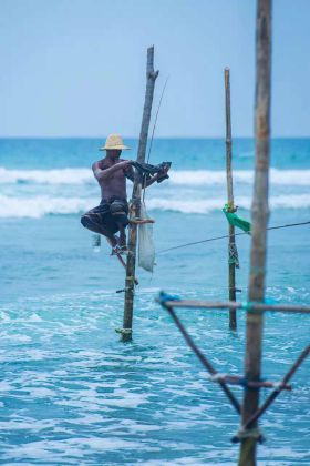 weligama stilt fishermen